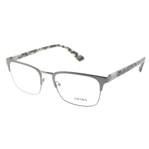 ca9fba4958 Prada Rectangle PR 54TV 7CQ1O1 Unisex Matte Gunmetal Frame Eyeglasses