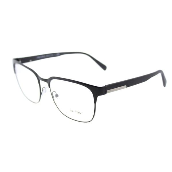 48082977970 Shop Prada Square PR 57UV 1BO1O1 Unisex Matte Black Frame Eyeglasses ...