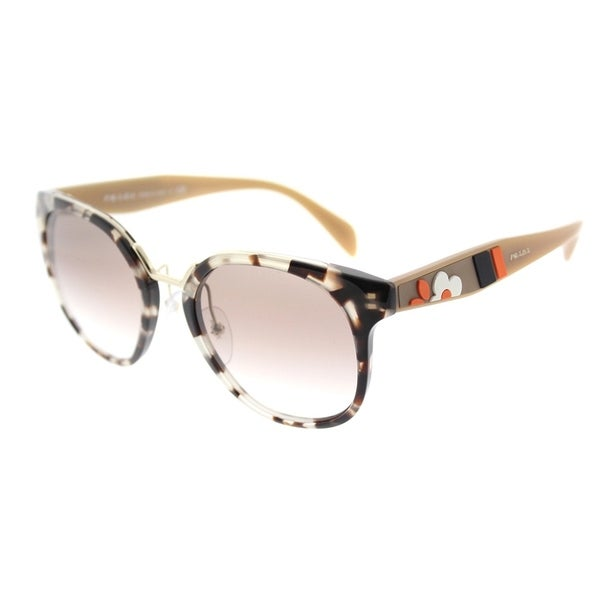 a7dcfa0dd85 Prada Square PR 17TS UAO1L0 Womens Spotted Opal Brown Frame Brown Gradient  Lens Sunglasses