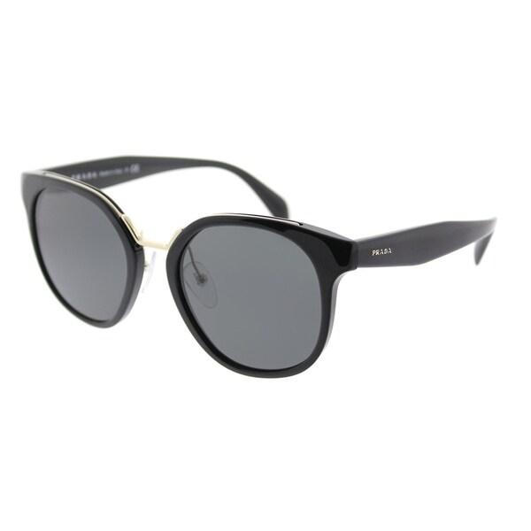 aee3b3a08d5 Prada Square PR 17TS 1AB5S0 Womens Black Frame Grey Lens Sunglasses