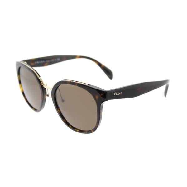 7d9fe3c1080a Prada Square PR 17TS 2AU8C1 Womens Havana Frame Brown Lens Sunglasses
