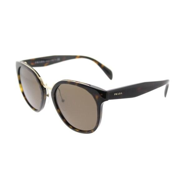 f471636f5ee2 Prada Square PR 17TS 2AU8C1 Womens Havana Frame Brown Lens Sunglasses