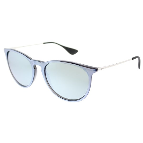 Ray-Ban Round RB 4171 631930 Unisex Grey Silver Frame Silver Mirror Lens  Sunglasses c550a50fd8c79