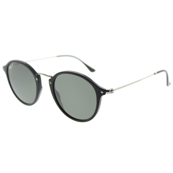 922370adbbf Ray-Ban Round RB 2447 901 58 Unisex Black Frame Green Polarized Lens  Sunglasses