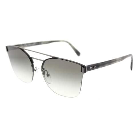 Prada Square PR 67TS 5AV0A7 Unisex Gunmetal Frame Grey Gradient Lens Sunglasses