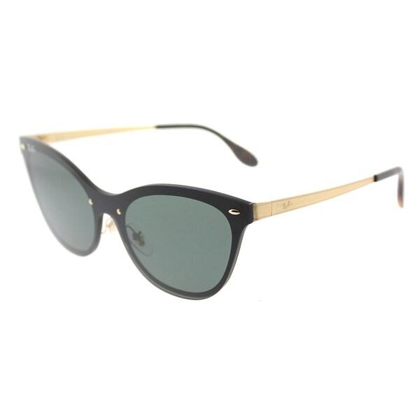 Shop Ray-Ban Cat Eye RB 3580N 043/71 Womens Gold Striped