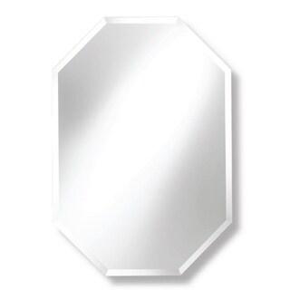 Frameless Octagon Beveled Wall Mirror
