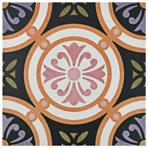 SomerTile 9.75x9.75-inch Oban Rodas Porcelain Floor and Wall Tile (16 tiles/10.76 sqft.)