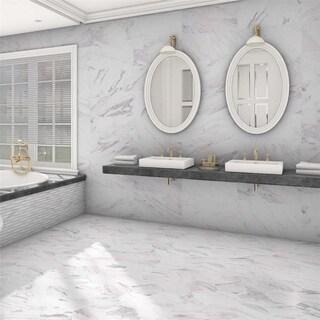 Somertile marmol carrara hex porcelain for Marmol de carrara