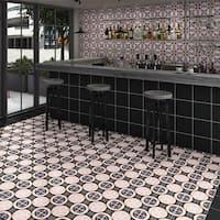 SomerTile 9.75x9.75-inch Oban Lesvos Porcelain Floor and Wall Tile (16 tiles/10.76 sqft.)