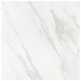 SomerTile 9.75x9.75-inch Marmol Carrara Porcelain Floor and Wall Tile (16 tiles/10.76 sqft.)