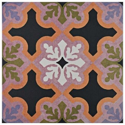 SomerTile 9.75x9.75-inch Oban Quios Porcelain Floor and Wall Tile (16 tiles/10.76 sqft.)