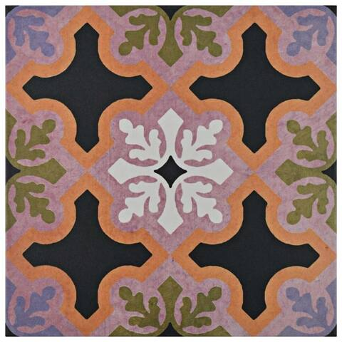 SomerTile 9.75x9.75-inch Oban Quios Porcelain Floor and Wall Tile (16 tiles/11.11 sqft.)