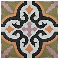 SomerTile 9.75x9.75-inch Oban Naxos Porcelain Floor and Wall Tile (16 tiles/11.11 sqft.)
