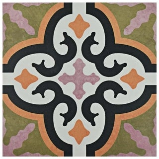SomerTile 9.75x9.75-inch Oban Naxos Porcelain Floor and Wall Tile (16 tiles/10.76 sqft.)