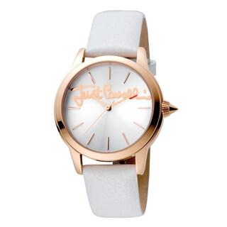 Just Cavalli Women's Quartz Crystal Leather Strap Watch