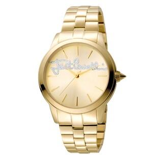 Just Cavalli Women's Quartz Crystal Stainless Steel Bracelet Watch