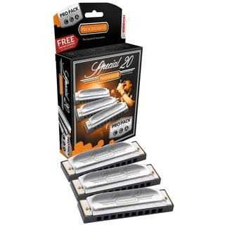 Hohner Marine Band Special 20 Pro Harmonica - 3-Pack - Keys C, G and A