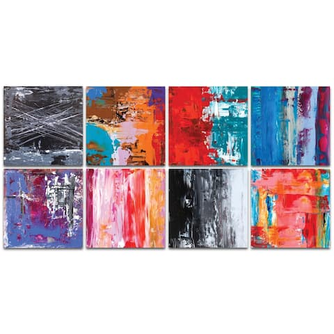 Celeste Reiter 'Urban Windows Large' 94in x 46in Abstract Wall Art on Metal