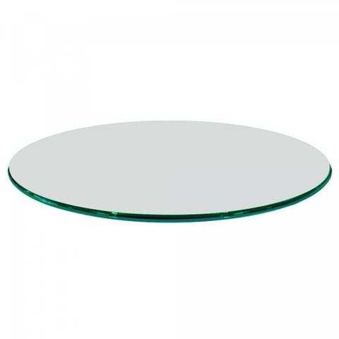 """1/2"""" Thick Round Glass Table Top Ogee Polish Tempered"""