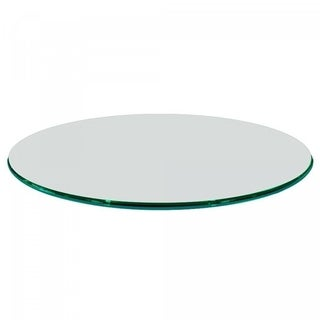 "1/2"" Thick Round Glass Table Top Ogee Polish Tempered"
