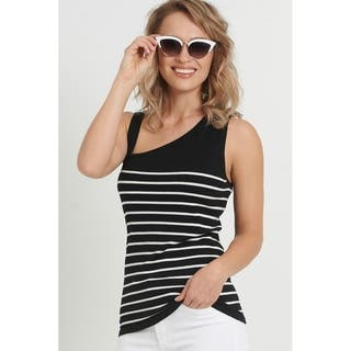 August Silk One Shoulder Striped Sweater|https://ak1.ostkcdn.com/images/products/17818012/P24009947.jpg?impolicy=medium
