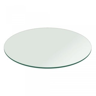 """3/8"""" Thick Round Glass Table Top Flat Polish Tempered"""