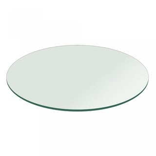"""3/8"""" Thick Round Glass Table Top Pencil Polish Tempered"""