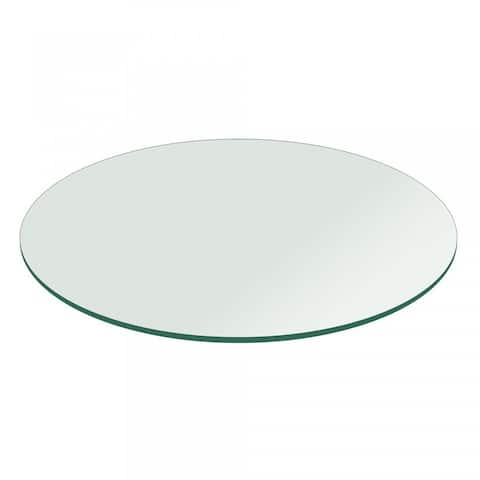 """1/2"""" Thick Round Glass Table Top Flat Polish Tempered"""