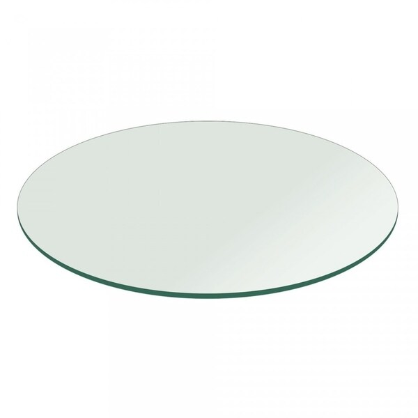 """1/4"""" Thick Round Glass Table Top Flat Polish Tempered"""