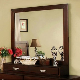 Crystal Lake Transitional Style Mirror - Brown Cherry