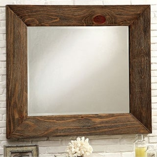 Coimbra Mirror In Rustic Natural Tone Finish - Brown