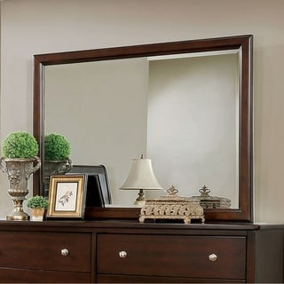 Ferrero Transitional Style Brown Cherry Mirror - Brown/Cherry