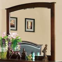 Crest View Contemporary Style Mirror In Brown Cherry Finish - Brown/Cherry
