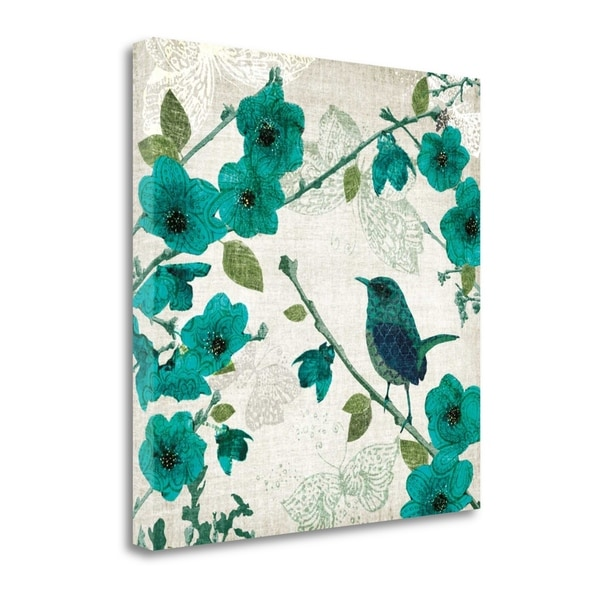 Birds And Butterflies I By Tandi Venter, Gallery Wrap Canvas