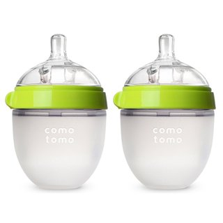 Comotomo Natural Feel Green 5-ounce Silicone Bottle (Pack of 2)