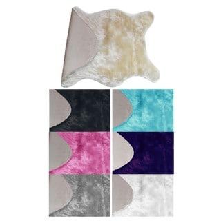 Super Soft Use Everywhere Faux Sheepskin Rug Carpet Shaped (2' x 3')