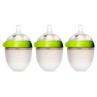 Comotomo Natural Feel Green 5-ounce Silicone Bottle (Pack of 3)
