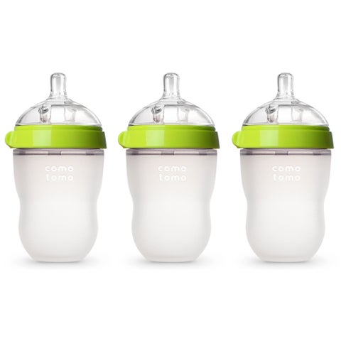 Comotomo Natural Feel Green 8-ounce Silicone Bottle (Pack of 3)