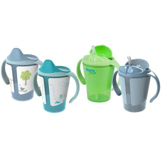Born Free Grow with Me Blue 6-ounce Training Cup Straw Cup Set