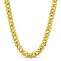 "14k Yellow Gold 5mm Solid Miami Cuban Curb Link Thick Necklace Chain 20"" - 30"""