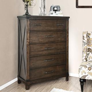 The Gray Barn Epona Rustic Dark Walnut 5-drawer Chest