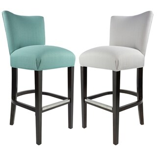 Link to Sole Design Savannah Collection Modern Fabric SACHI Upholstered Counter Bar Stool with Concave Back Design Similar Items in Dining Room & Bar Furniture