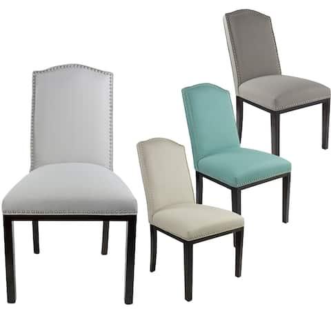 Sole Design Allison Modern Upholstered Camel Back Dining Chair