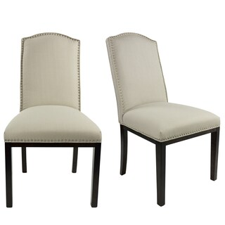 Sole Design Allison Collection Modern SACHI Fabric Dining Chair With Camel Back Design And Espresso Finished Legs