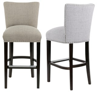 Link to Sole Design Savannah Collection Modern Fabric JET Upholstered Counter Bar Stool with Nail Trim & Concave Back Design Similar Items in Dining Room & Bar Furniture