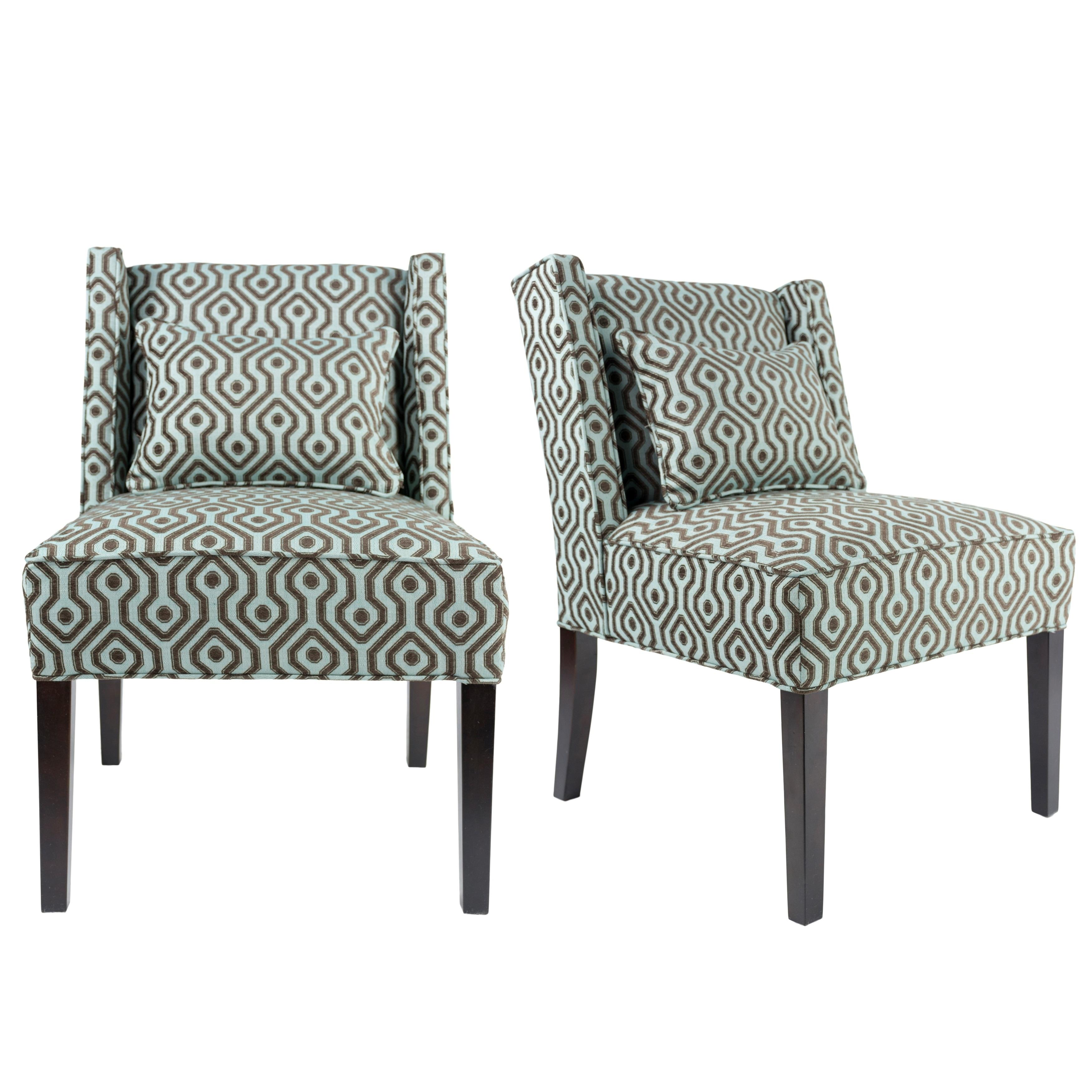 Nolani Modern Fabric Bistrole Upholstered Slipper Wingback Chair