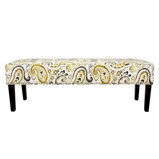 Sole Design Diane Collection Modern Fabric Ananda Starlight Upholstered Bench With Storage, Gold