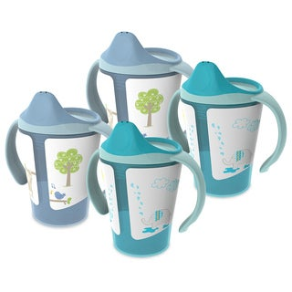 Born Free Grow with Me 6-ounce Blue Bundle Training Cup (Pack of 4)