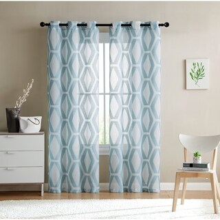 VCNY Home Gabrielle Sheer Curtain Panel Pair